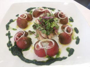 Ensalada de ventresca de atun y tomate