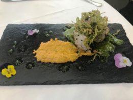 Tataki de atun rojo con tempura de verduras